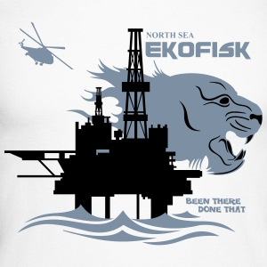 Ekofisk Oil Rig Platform North Sea Norway - Men's Long Sleeve Baseball T-Shirt