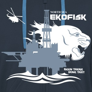 Ekofisk Oil Rig Platform Norway - Men's Premium Hooded Jacket