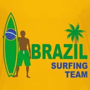 brazil surfing team 02 Shirts - Teenage Premium T-Shirt
