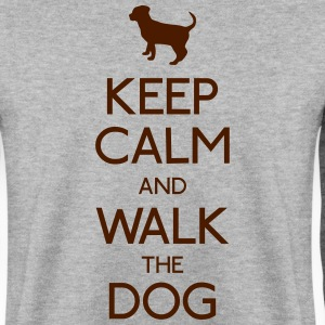 keep calm dog houd rustige hond Sweaters - Mannen sweater