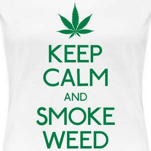 keep calm and smoke  houd kalm en rook  T-shirts - Vrouwen Premium T-shirt