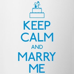 keep calm marry me Bottles & Mugs - Mug