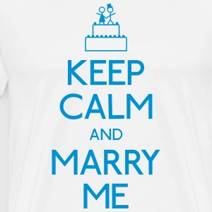 keep calm marry me hålla lugn gifta mig T-shirts - Premium-T-shirt herr