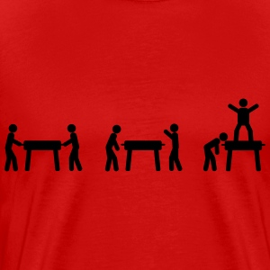 Foosball table Evolution  T-Shirts - Men's Premium T-Shirt