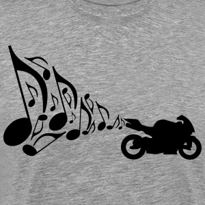 Motorcycle Exhaust Music  T-Shirts - Men's Premium T-Shirt