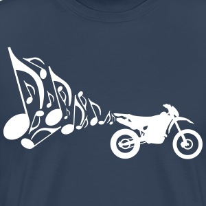 Motorcycle Enduro exhaust music  T-Shirts - Men's Premium T-Shirt