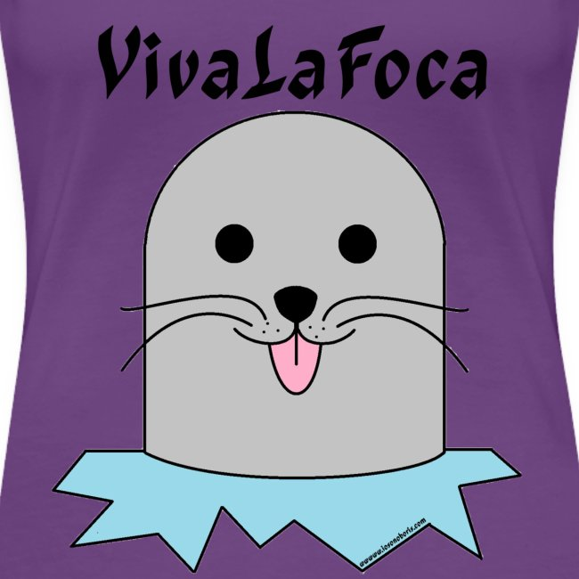 T-shirt donna girocollo IoSonoFoca - scritta bianca