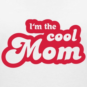 I'm the cool Mom T-shirts - Dame-T-shirt med V-udskæring