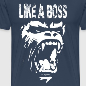 Gorilla like a boss T-Shirts - Men's Premium T-Shirt