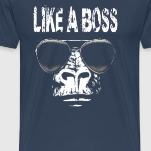 Gorilla like a boss sunglasses T-Shirts - Men's Premium T-Shirt