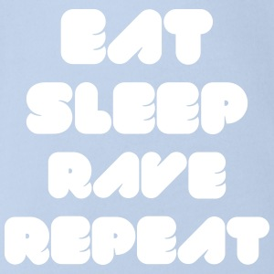 EAT SLEEP RAVE REPEAT T-Shirts - Baby Bio-Kurzarm-Body