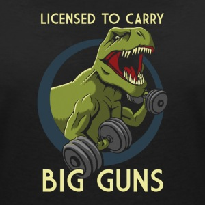 Licensed to Carry Big Guns - Women's V-Neck T-Shirt