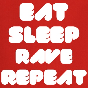 EAT SLEEP RAVE REPEAT  Aprons - Cooking Apron