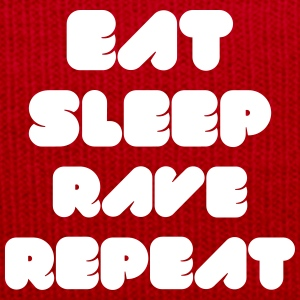 EAT SLEEP RAVE REPEAT Caps & Hats - Winter Hat