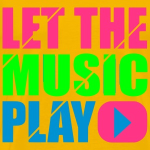 let the music play T-shirts - Herre premium T-shirt