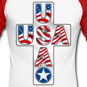 united states cross Long sleeve shirts - Men's Long Sleeve Baseball T-Shirt