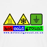 Design ~ Hot Cold Ground Blues Band plain tshirt, white