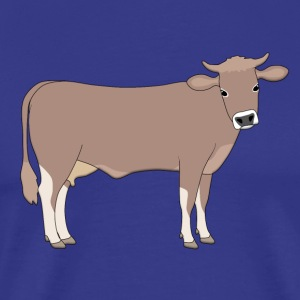 brown cattle D T-shirts - Herre premium T-shirt