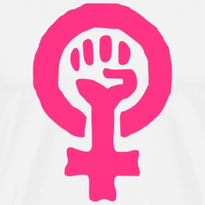 Feminism Power Symbol T-Shirts - Men's Premium T-Shirt
