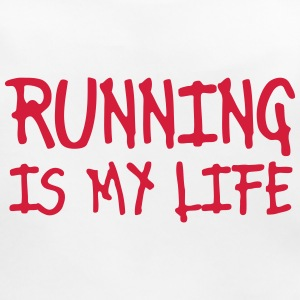 running is my life Accessories - Baby Organic Bib