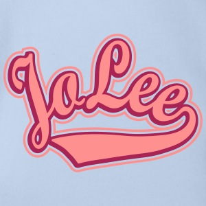 Jolee - T-shirt Personalised with your name Shirts - Organic Short-sleeved Baby Bodysuit