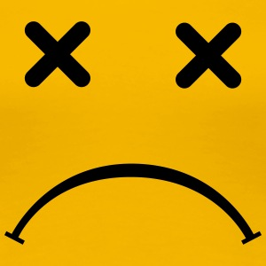 Sad (ledsen) Smiley - After Party T-shirts - Premium-T-shirt dam