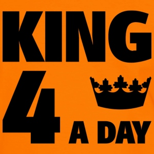 King 4 a day T-shirts - Mannen contrastshirt