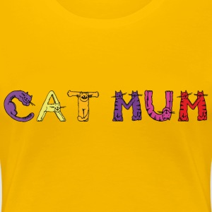 Cat Mum T-Shirts - Women's Premium T-Shirt