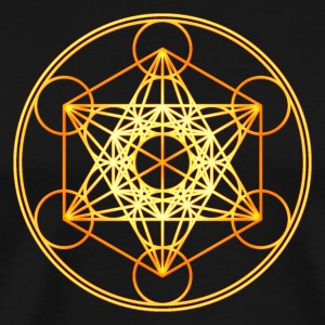 Metatron's Cube Sacred Geometry Mathematics Math T-Shirts - Men's Premium T-Shirt