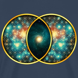 Vesica Piscis Galaxy Sacred Geometry Mathematics T-Shirts - Men's Premium T-Shirt