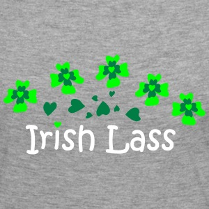 Irish Lass Heart Clover patjila Long Sleeve Shirts - Women's Premium Longsleeve Shirt