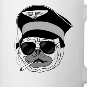 Smoking pug pilot Bottles & Mugs - Mug