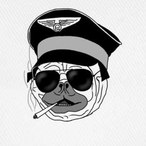 Smoking pug pilot Caps & Hats - Baseball Cap
