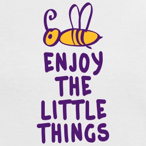 enjoy the little things 2c T-shirts - Kontrast-T-shirt dam