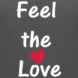 Feel the Love T-Shirts - Women's V-Neck T-Shirt