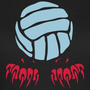 Volleyball Ball-Logo Klaue Pfote 2802 T-Shirts - Frauen T-Shirt