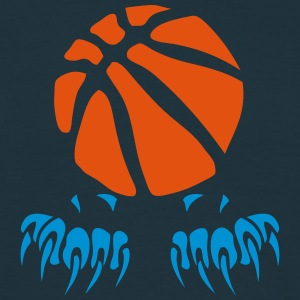 Basketball Ball Klaue Pfote logo 2802 T-Shirts - Männer T-Shirt
