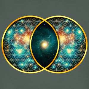Vesica Piscis Galaxy Sacred Geometry Mathematics T-Shirts - Men's Organic T-shirt