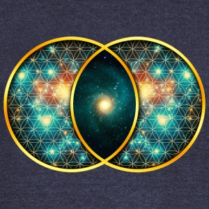Vesica Piscis Galaxy Sacred Geometry Mathematics Hoodies & Sweatshirts - Women's Boat Neck Long Sleeve Top