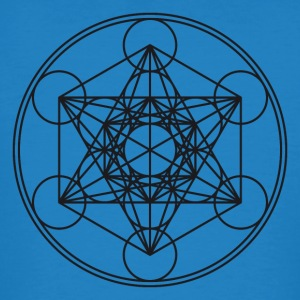 Metatrons Cube Sacred Geometry Flower Life Science T-Shirts - Men's Organic T-shirt