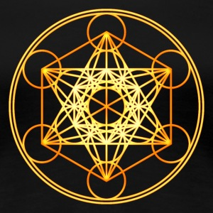 Metatron's Cube Sacred Geometry Mathematics Math T-Shirts - Women's Premium T-Shirt