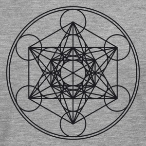 Metatrons Cube Sacred Geometry Flower Life Science Long sleeve shirts - Men's Premium Longsleeve Shirt