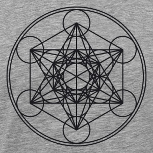 Metatrons Cube Sacred Geometry Flower Life Science T-skjorter - Premium T-skjorte for menn