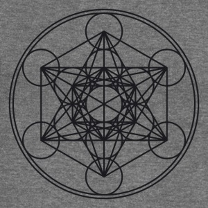 Metatrons Cube Sacred Geometry Flower Life Science Hoodies & Sweatshirts - Women's Boat Neck Long Sleeve Top