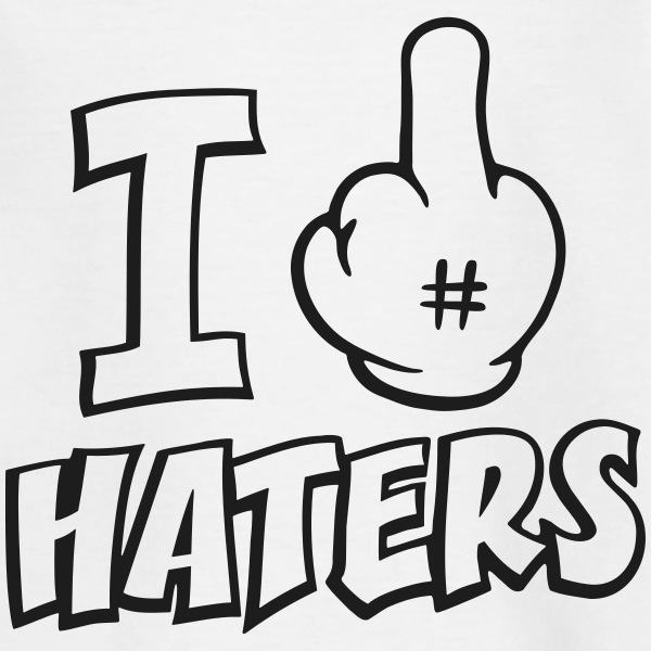 I fuck haters 1c Shirts - Kinderen T-shirt
