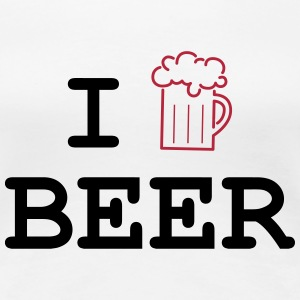 I Love Beer T-shirts - Dame premium T-shirt