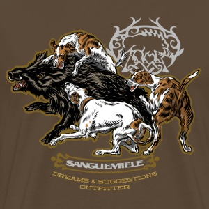 wild_boar_and_hounds T-Shirts - Men's Premium T-Shirt