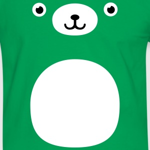 Funny Kawaii Teddy Bear face T-skjorter - Kontrast-T-skjorte for menn