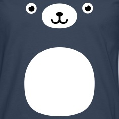Funny Kawaii Teddy Bear face Long sleeve shirts