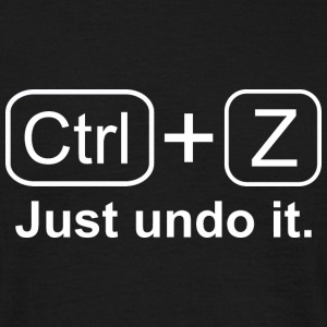 Ctrl + Z White T-Shirts - Men's T-Shirt